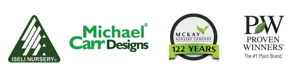brands we get products from, mckay nursery, michael carr, proven winners, and ineli growers